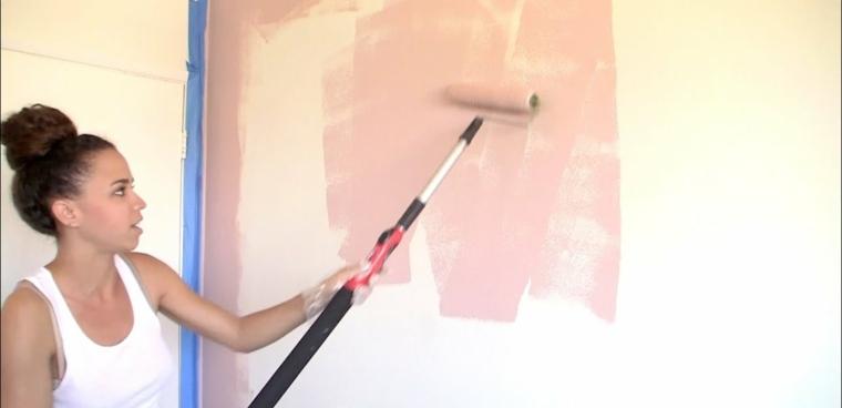 cómo pintar paredes con rodillo