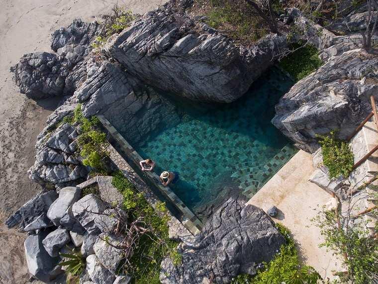cabañas en México-piscina