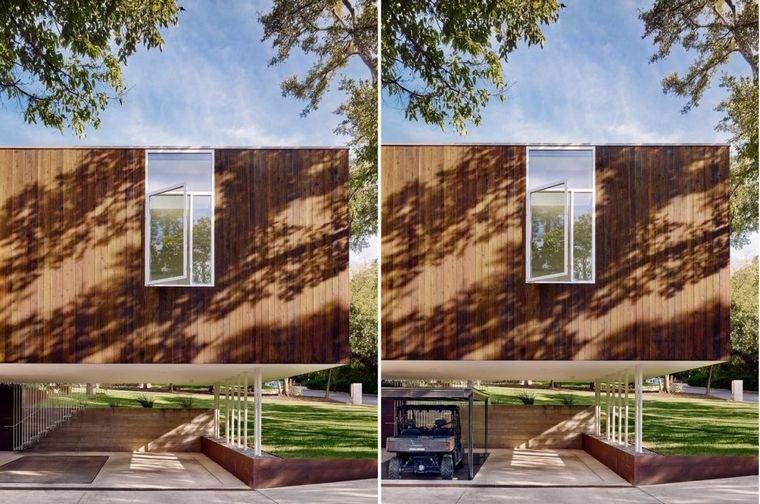 casas minimalistas modernas-Sugar-Shack-garaje
