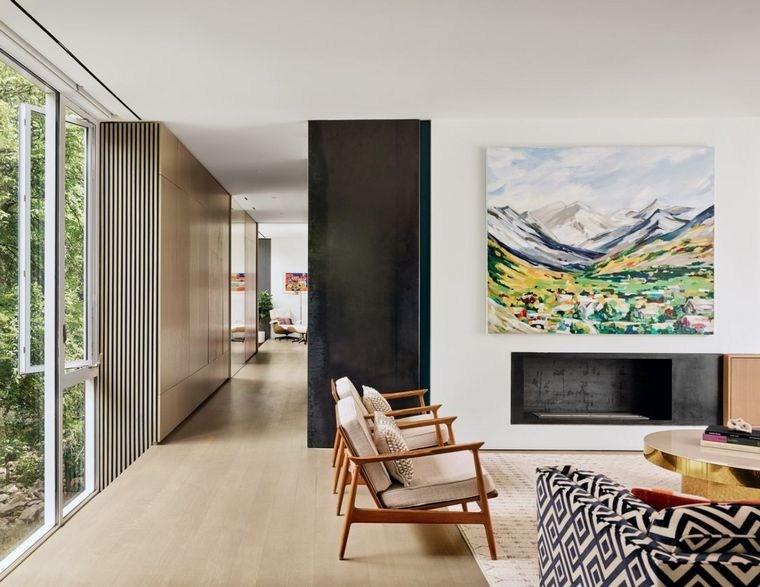 casas-minimalistas-modernas-Sugar-Shack-salon-moderno