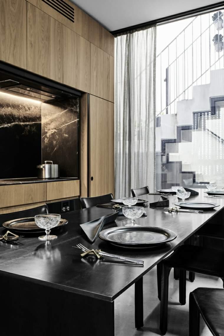 cocina-comedor-muebles-negros-opciones