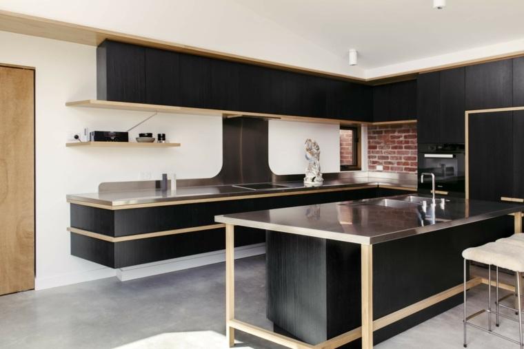 cocina-contemporanea-negra-estilo-moda-ideas