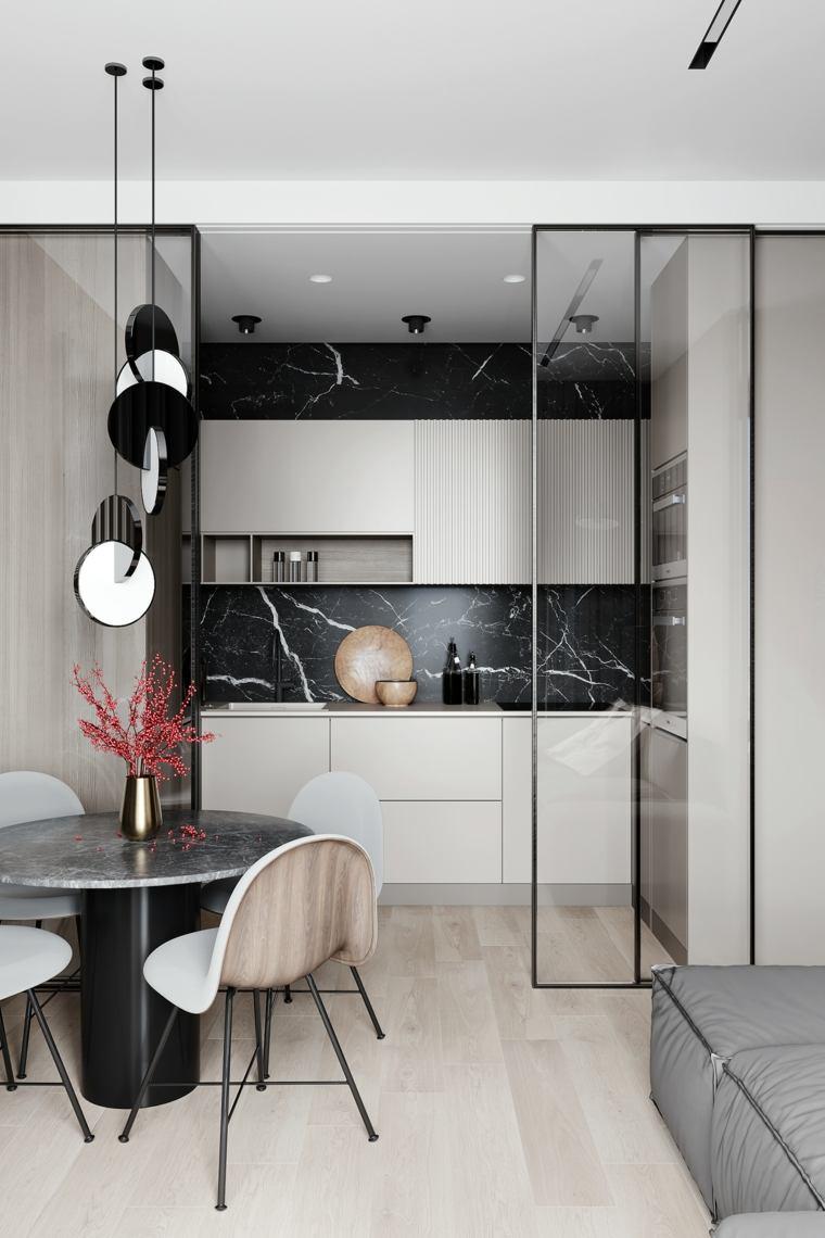 cocina-diseno-marmol-negro-estilo