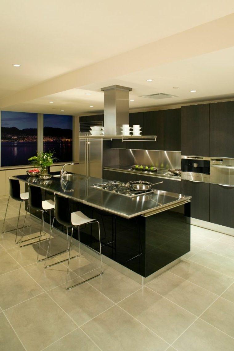 cocina-encimeras-brillantes-acero-ideas
