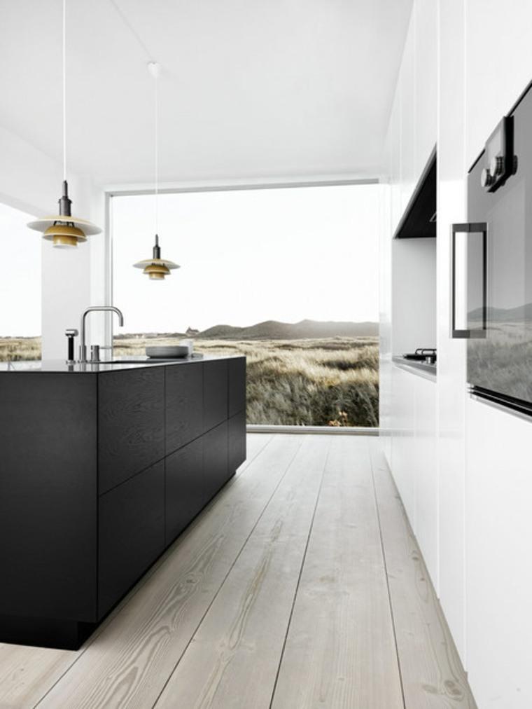 cocina-isla-color-negro-estilo-mo