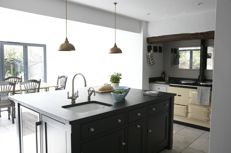 cocina-isla-forma-cuadrada-negra-ideas