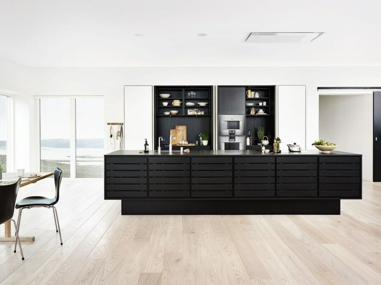 cocina-isla-madera-solida-opciones-color-negro-ideas-estilo
