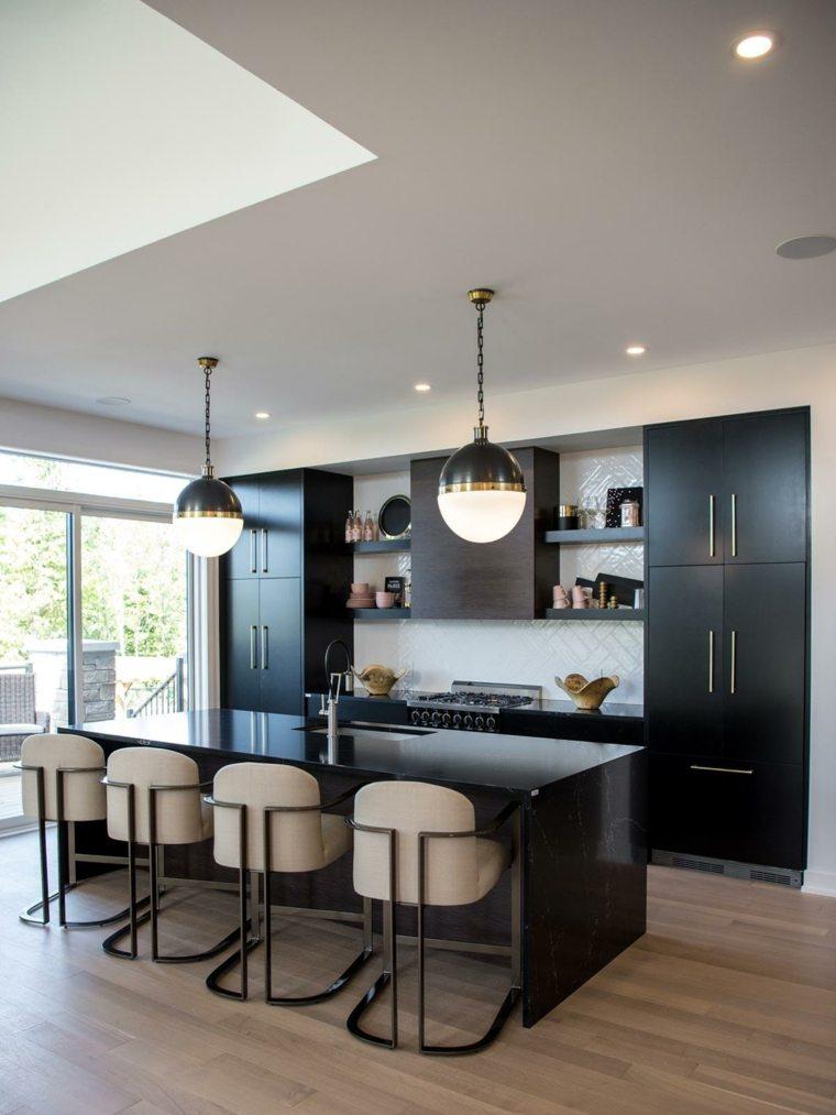 cocina-isla-marmol-negro-opciones-estilo
