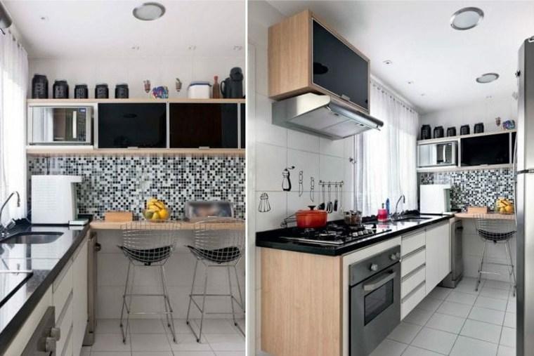 cocina-muebles-madera-puertas-negras