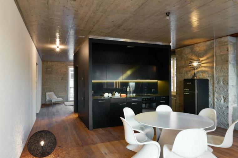 cocina negra-Kyncl-Schaller-Architekten