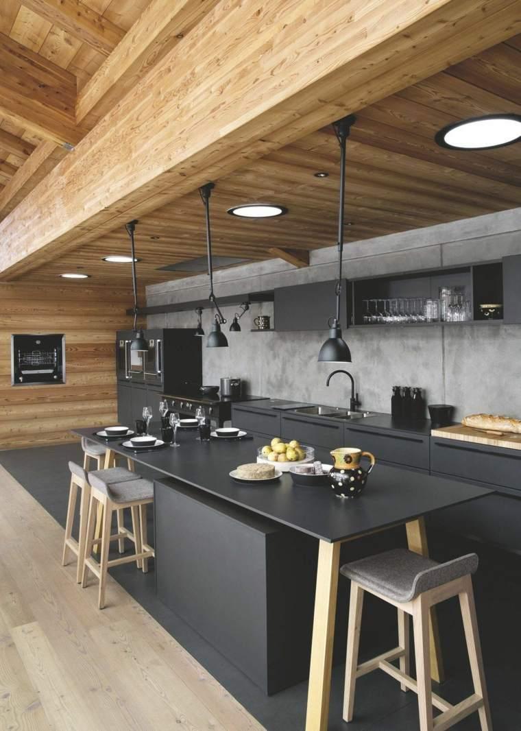 cocina-negra-amplia-estilo-moda