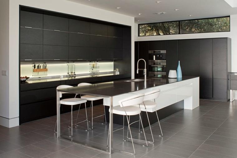 cocina-negra-diseno-Dick-Clark-Associates