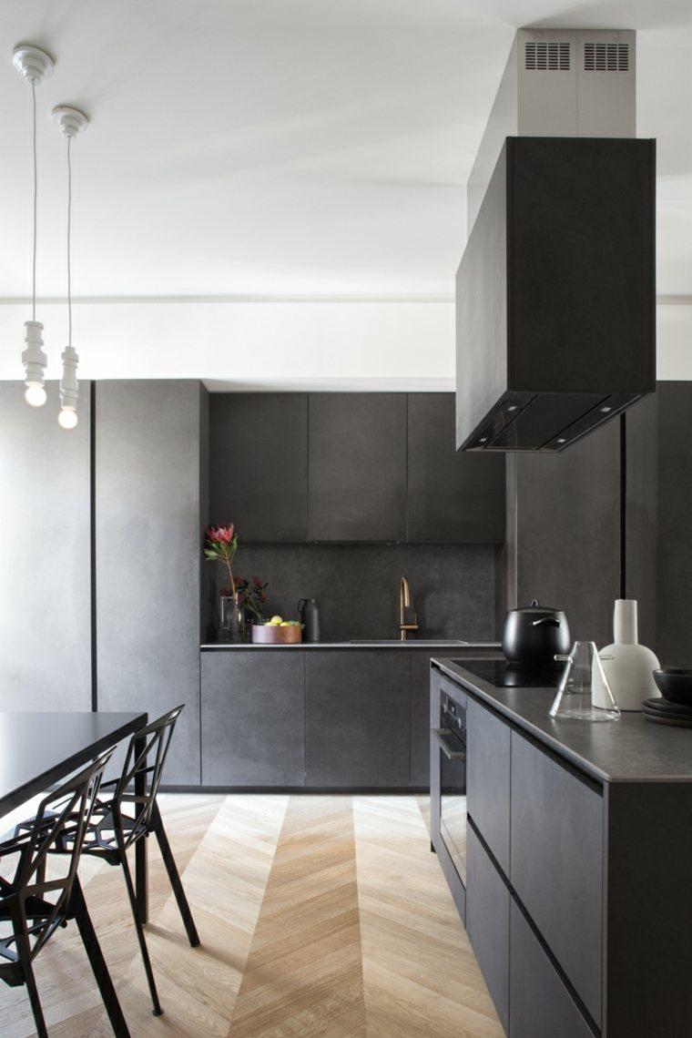 cocina negra-diseno-moda-ideas-estilo