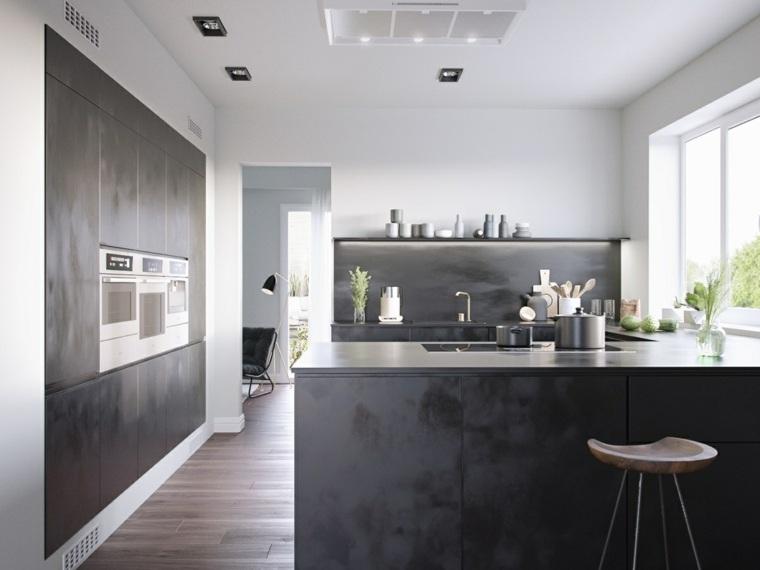 cocina negra-estilo-diseno-hogar