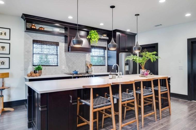 cocina negra-lineas-limpias-ideas