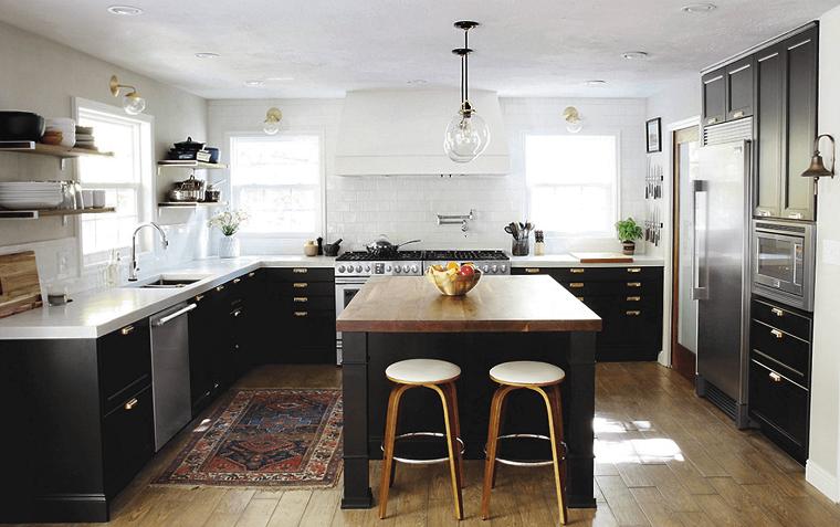 cocina negro-blanco-opciones-estilo