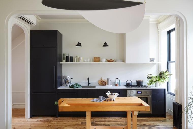 cocina-nevera-negra-estilo-moda