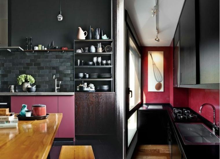 cocina-pared-ladrillo-negro-opciones