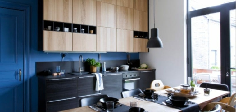 cocina-pared-negra-ideas