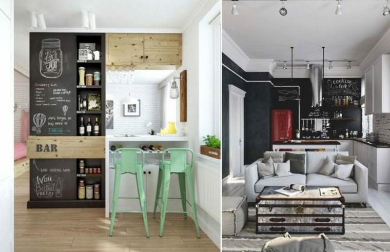 cocina-pequena-ideas-color-negro