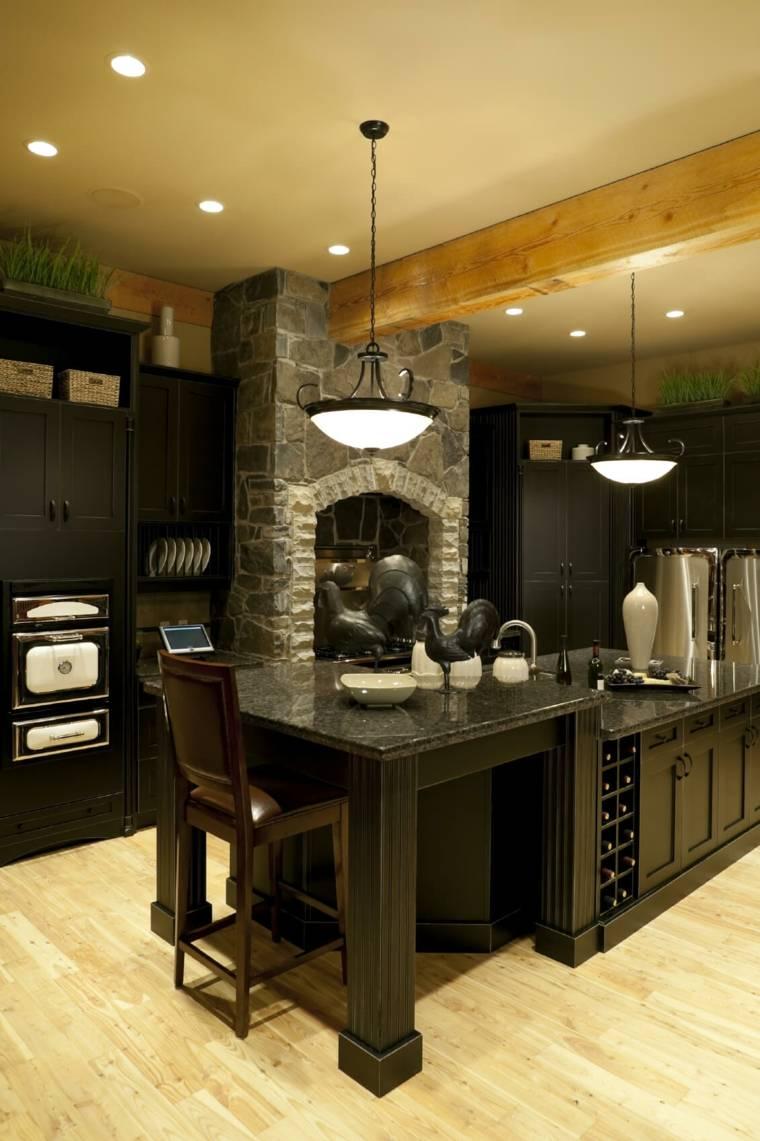 cocina-rustica-color-negro-muebles