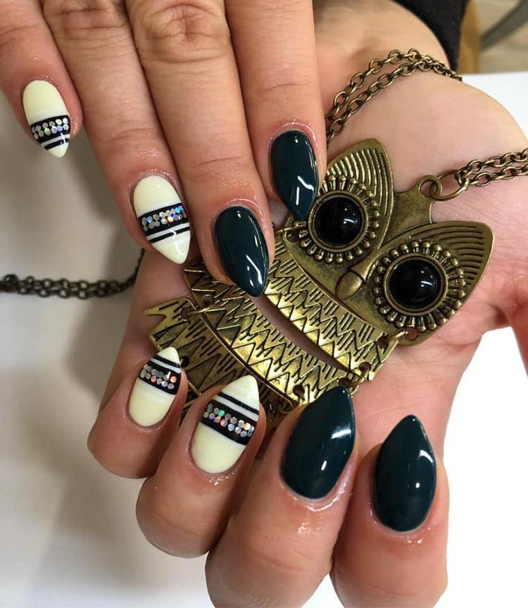 colores de uñas 2019-blanco-negro