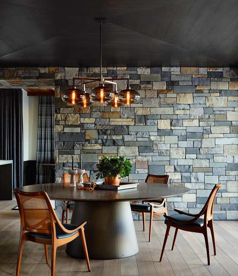 comedor-pared-ideas-piedra