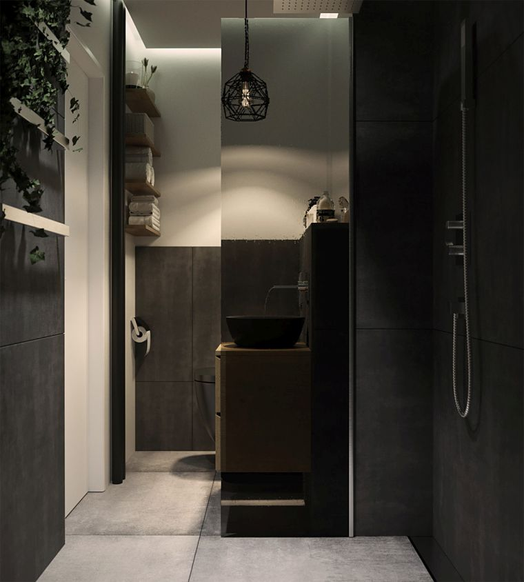 decoracion-bano-marmol-negro-ideas