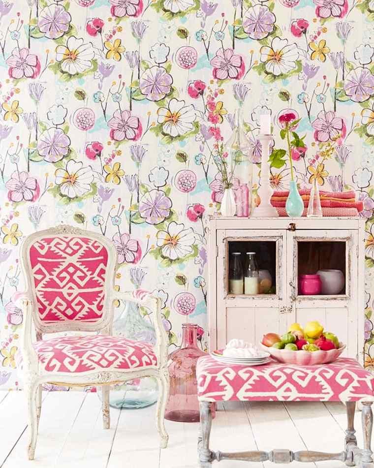 decoracion-con-papel-pintado-habitacion