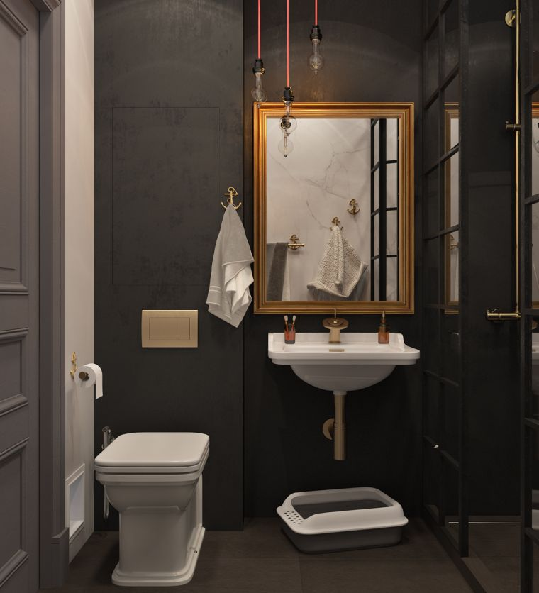diseno-bano-colores-oscuros-bano-estilo-clasico