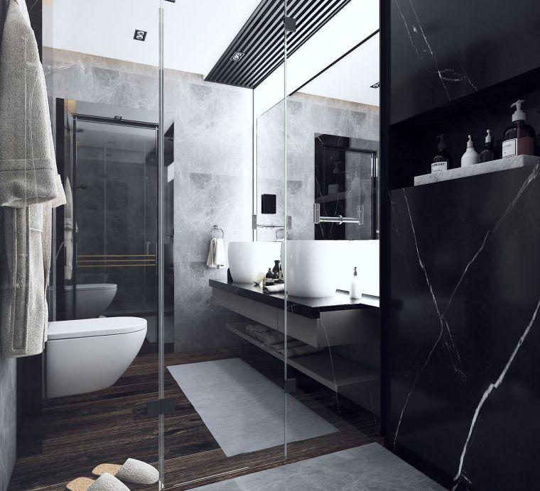 diseno-bano-colores-oscuros-bano-marmol
