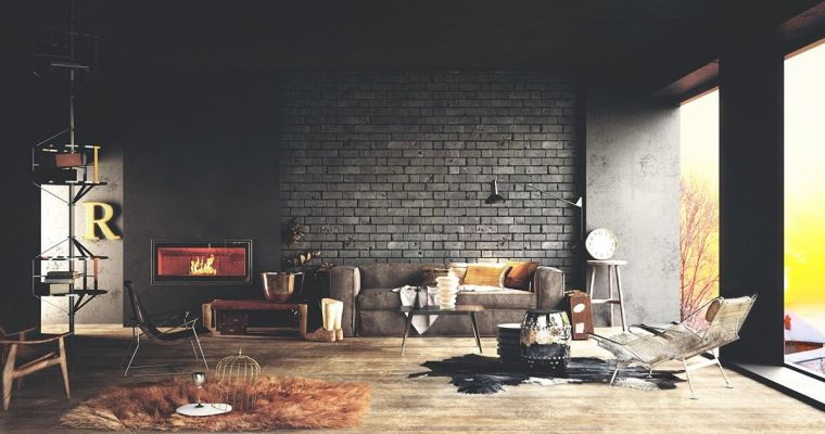 diseno-interior-pared-ladrillo-negro