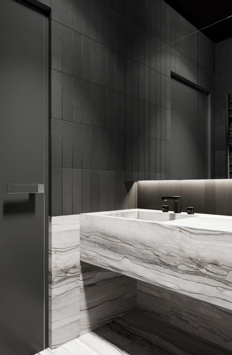 diseños de cuartos de baño-color-lavabo-marmol