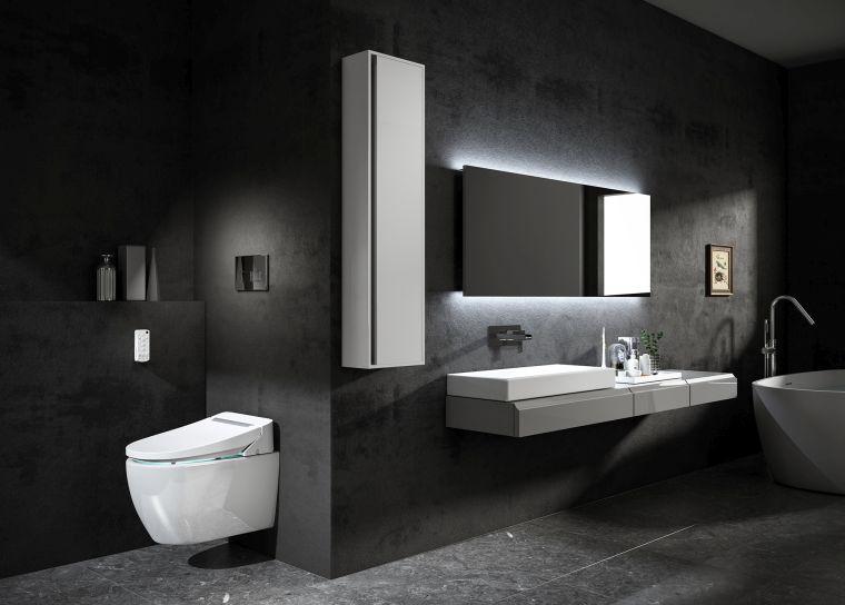 diseños de cuartos de baño-color-sombrio