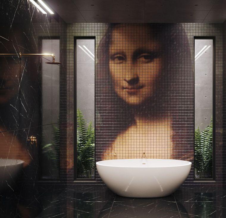disenos-de-cuartos-de-bano-pared-original