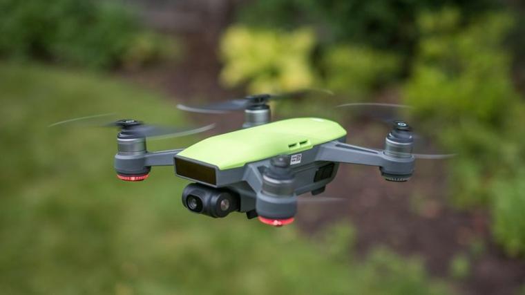 dji spark drone verde