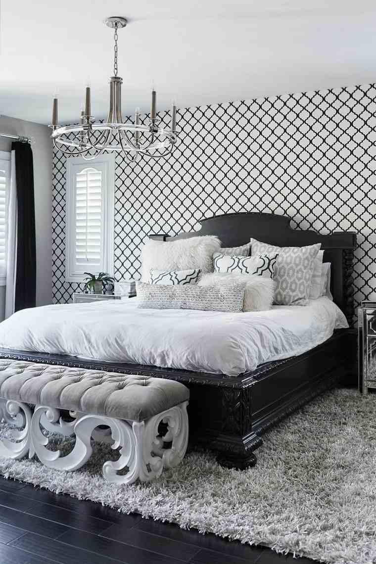 dormitorio-pared-blanco-negro-ideas