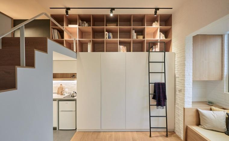 ideas para almacenaje escalera