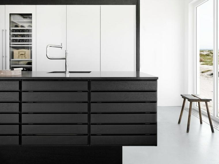 isla-cocina-color-negro-opciones-estilo