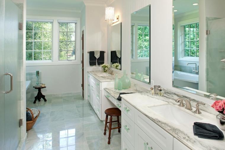 mármol verde claro baño