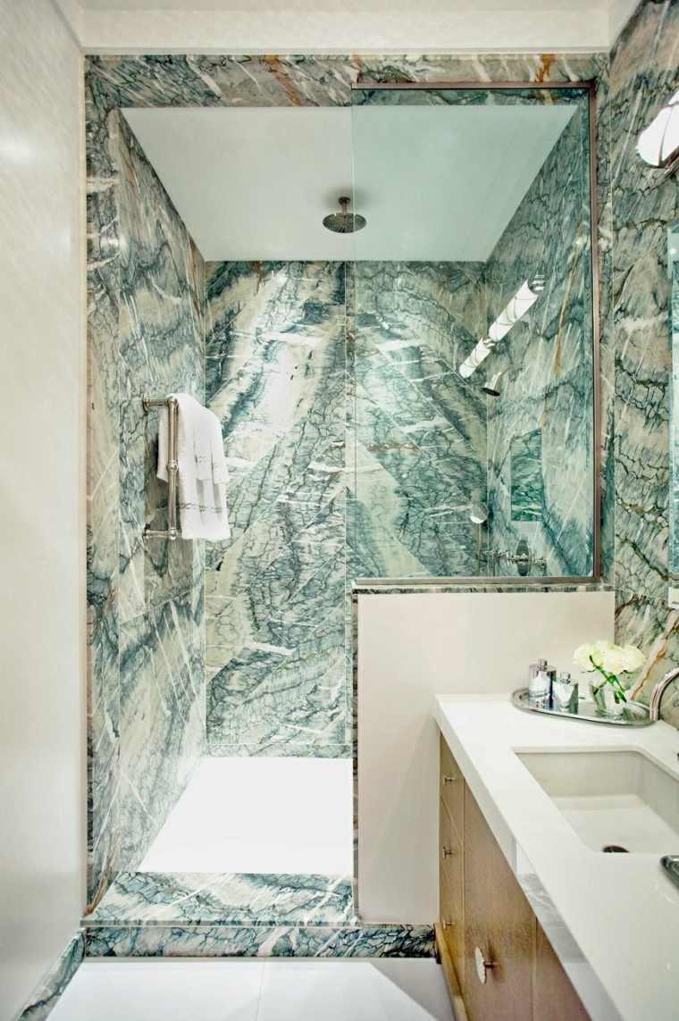 mármol verde diseño de baño