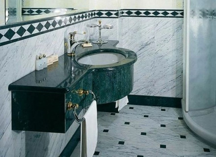 mármol verde lavabo de lujo