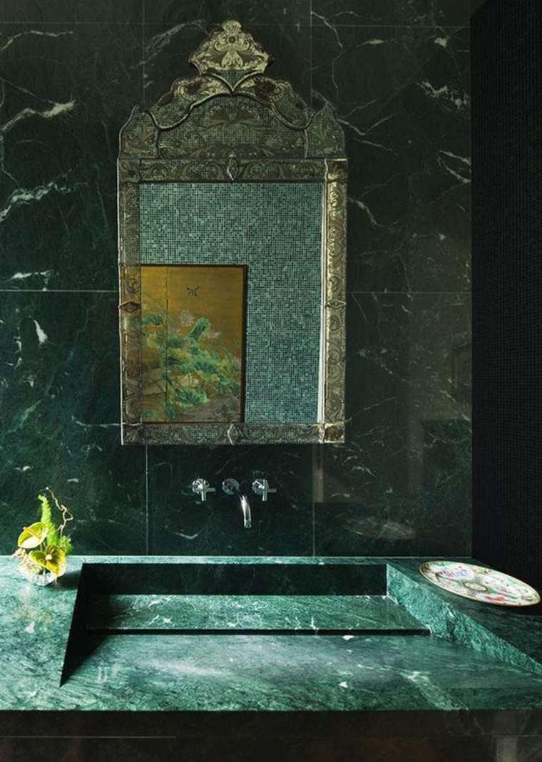 mármol verde lavabo