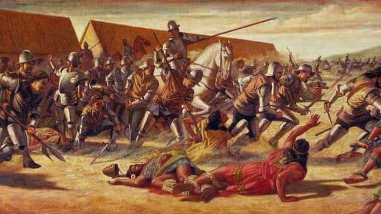 matanza de la población indígena