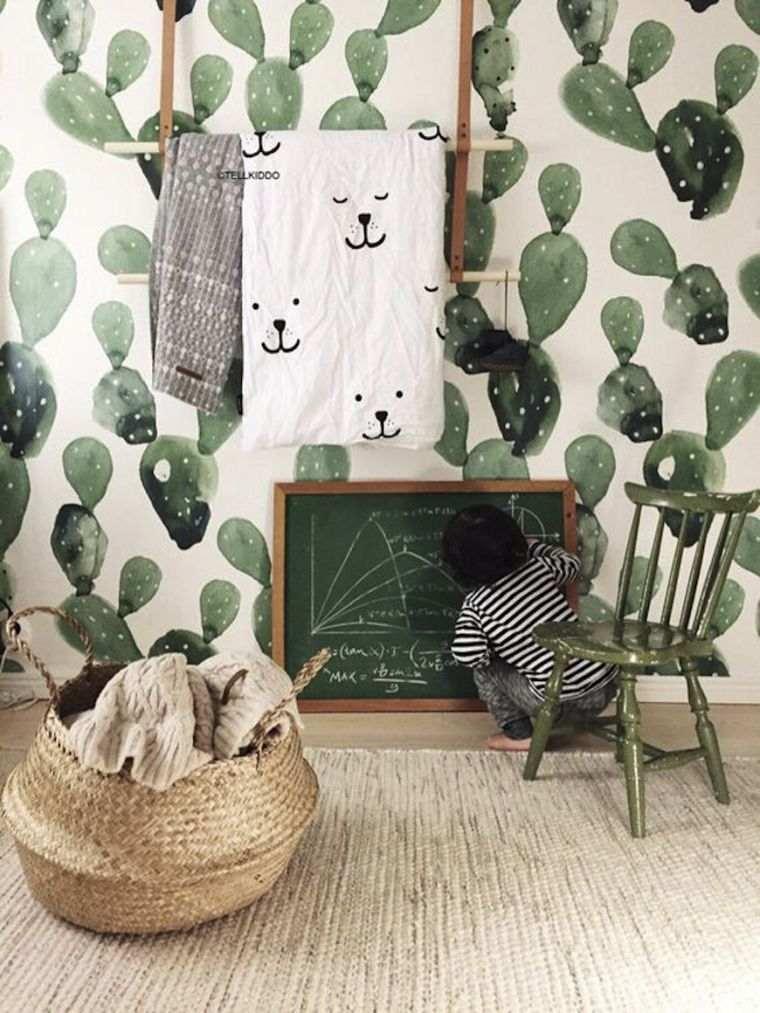 papel-pared-habitacion-ninos-estilo-moda