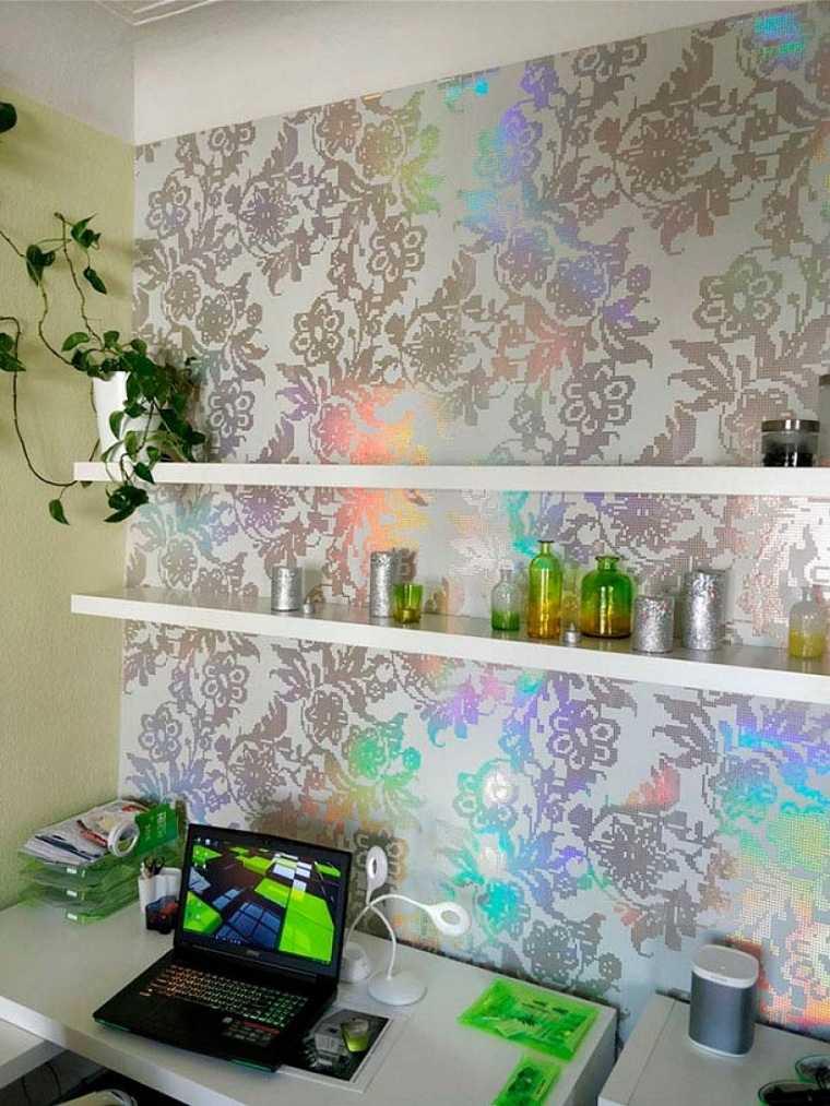 Decoración con papel pintado – elección de color y combinación
