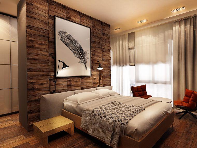 pared-madera-dormitorio-estilo