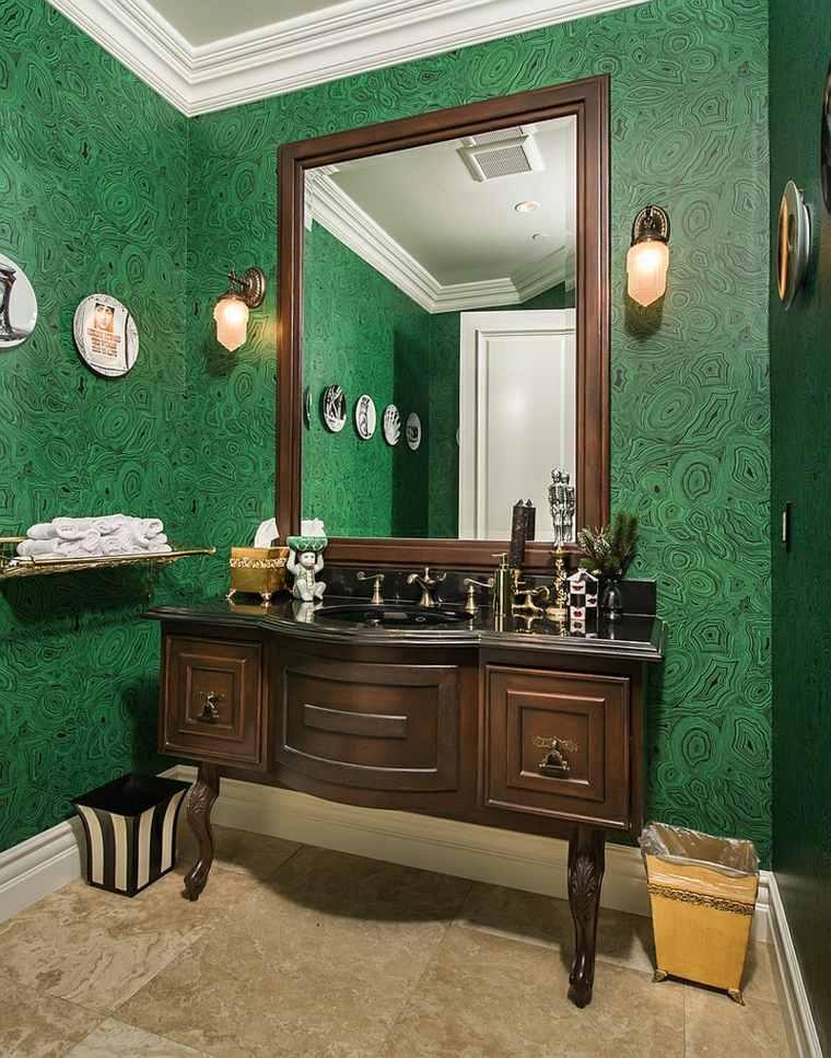 pared-revestida de mármol verde