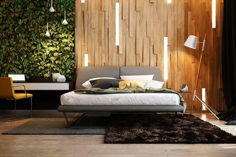 paredes de madera con iluminación