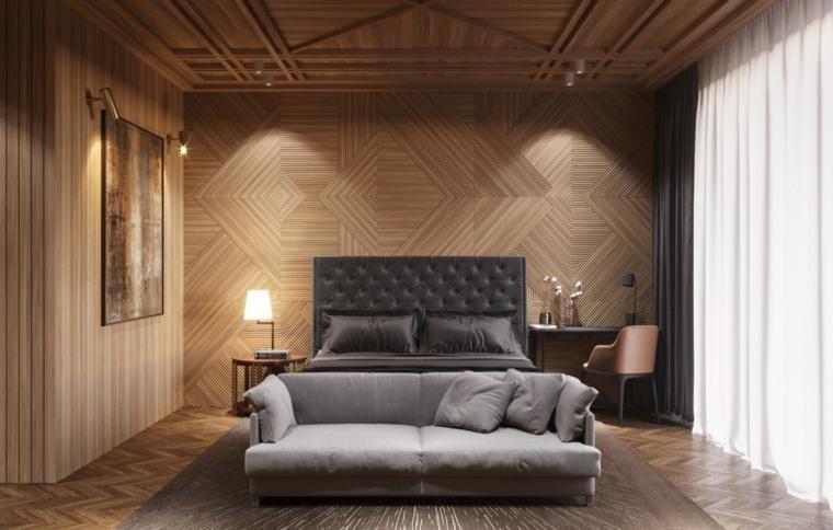 paredes de madera con paneles